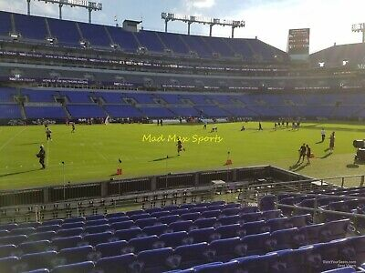 2 Tickets New York JETS @ vs Baltimore RAVENS 12/12/19 Section 103 Row 6 FIELD