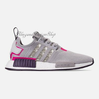 huge discount b4921 55d53 NWT Women s Bling Adidas NMD R1 Shoe Custom with Swarovski Crystals New in  Box