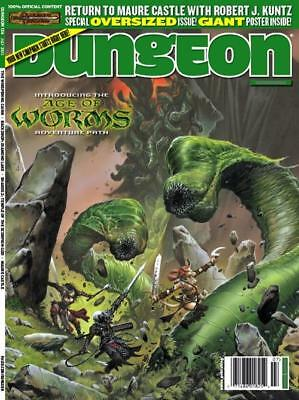 """Paizo Dungeon Mag #124 """"Return to Maure Castle, Age of Worms Adventure  Mag VG+"""
