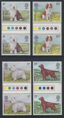GB EII 1978 Dogs MINT set TRAFFIC LIGHT GUTTER PAIRS sg1075-1078 MNH