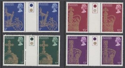 GB EII 1978 Coronation MINT set TRAFFIC LIGHT GUTTER PAIRS sg1059-1062 MNH