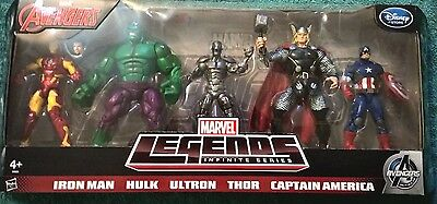 Marvel Legends Avengers Age of Ultron 5 Figure Box set Disney Europe Exclusive
