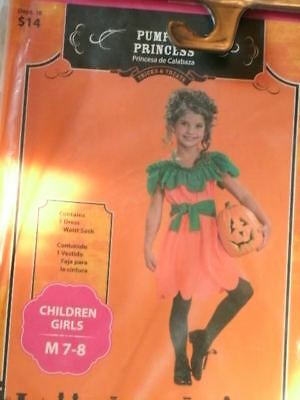 COSTUME *PUMPKIN PRINCESS* girl m 7-8 NEW WITH PACKAGING