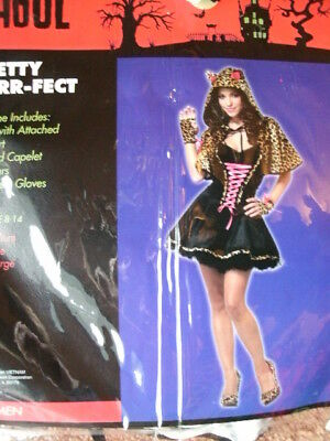 CAT COSTUME *PRETTY PURR-FECT* woman L 10-12 NEW WITH PACKAGING