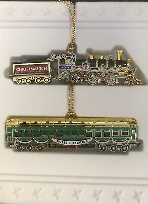 White House Historical Association Christmas 2014 Ornament Trains New