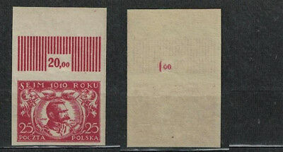 Poland Fischer #  111 National Assembly Issue . Proof In Red . Mnh 1919