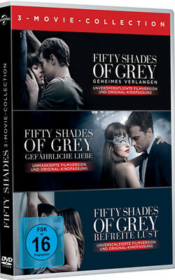 Fifty Shades of Grey - 3-Movie Collection  [alle 3 DVDs] NEU & OVP !!!