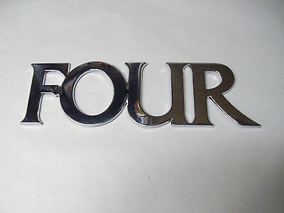 Four Winns * Four Only* Mirrored Plastic Adhesive 055-0595 Logo Emblem Decal