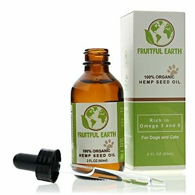 100% Organic Hemp Seed Oil-Natural pet care for Skin Immunity Allergy Joint Pain