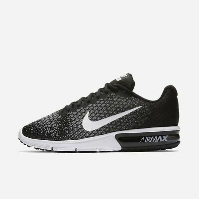 Nike Air Max Sequent 2 Black White Grey 852461-005 Men's Running Shoes NEW!