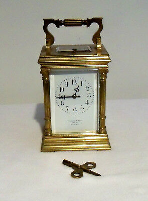 Early 1900s French Repeater Carriage Clock, Thomas B. Starr, NY - Working