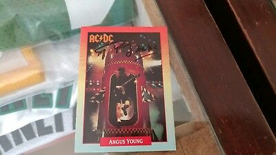 Angus Young ACDC signed trading card autograph authentic rare signature