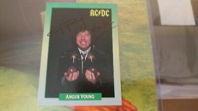 Angus Young ACDC signed trading card autograph authentic rare signature mint