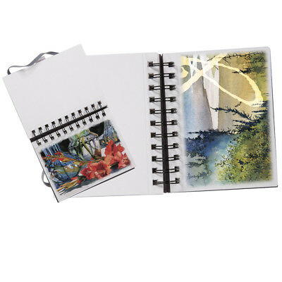 "Reflexions Hardcover Aqua Multimedia Journal 8x10"" - Black"
