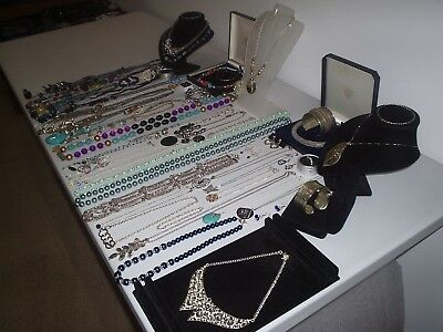 Large Job Lot Of Vintage & Costume Jewellery Necklaces Bracelets Earrings (K)