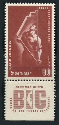 Israel: 1951 Independence Bonds (45) With Tab MNH