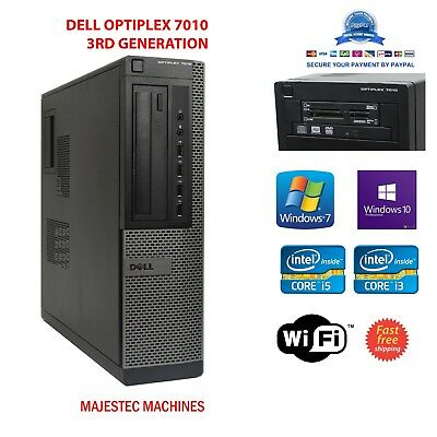 DELL Intel Core i3 i5 3rd Gen 16GB RAM 1TB HDD SSD PC DESKTOP Windows 7 or 10