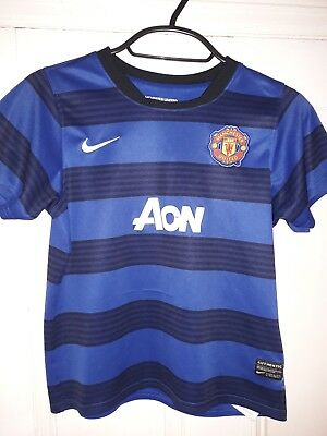 Kids Childs Youth Manchester United Football Shirt Nike Age 7-8 Years Junior