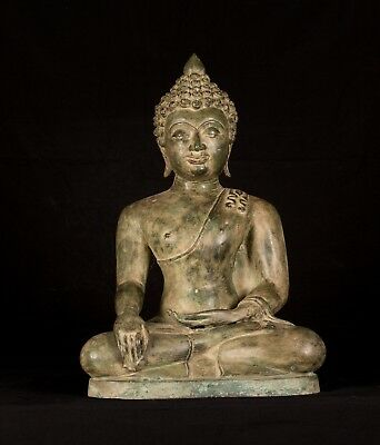 """Antique Chiang Saen Style Enlightenment Buddha Statue - 49cm/20"""""""