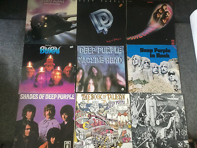 Deep Purple [9 LP Vinyl] Machine Head Burn In Rock Shades Book Fireball Stranger