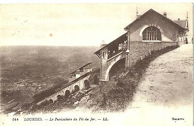 Carte postale ancienne cp888 Lourdes Funiculaire 1918