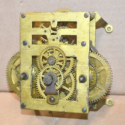 Antique New Haven 30 Day Wall Regulator Clock Movement for Parts