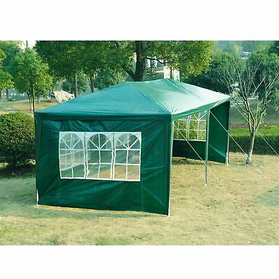 Outsunny 10x20ft Camping Party Tent w/ 4 Sidewalls Patio Garden Green