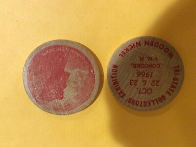 Vintage Wooden NICKLE  OLD MAN OF THE MOUNTAIN. CONCORD NH 1966