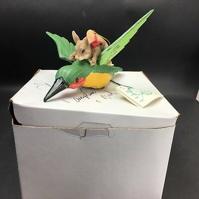 Dean Griff Silvestri Charming Tails Ornament FRIENDS IN FLIGHT 87/971 Signed