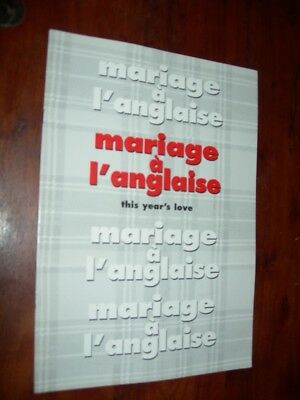 Dossier de presse MARIAGE A L'ANGLAISE (Kathy Burke) This Year's Love