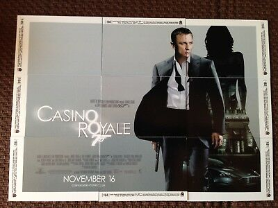 "Set of 9 trading cards from the 2006 James Bond 007 movie ""Casino Royale"""