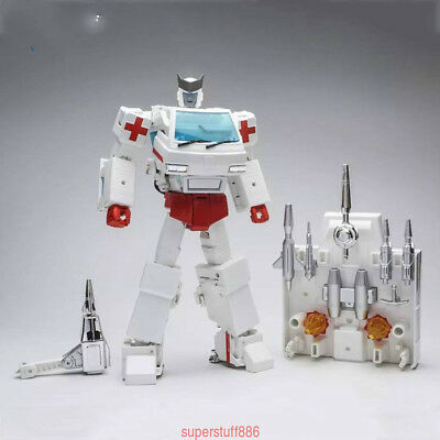 Hot WJ  Robot Force STEEL GUARD MPP30 Ratchet Oversized Figure