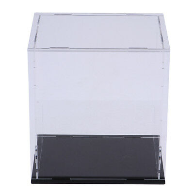 Clear Acrylic Display Case Box 14x14x13cm for Action Figure Toy Collectibles