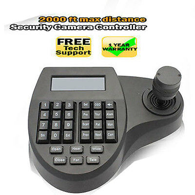 3D Keyboard Controller for Speed Dome Camera CCTV LCD PTZ 3 Axis Joystick System