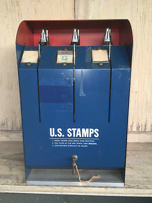 Vintage Usps Model S67 Postage Stamp Coin Operated 10 & 25 Cent Vending Machine