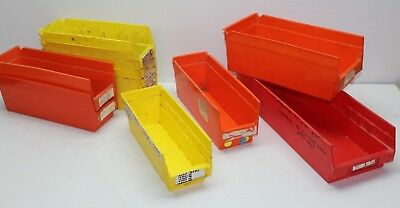 11 Vintage Plastic Harley Parts Storage Bins Drawers Trays Containers