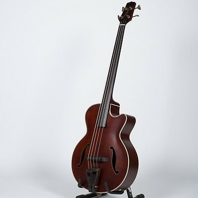 Takamine Pro Series TB10 Acoustic Electric Bass Guitar, Natural with Case