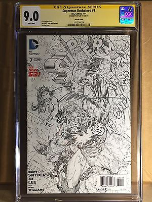 Superman Unchained #7 Sketch Variant 1/100 Signed By Jim Lee Dc Comics 2015 Nm