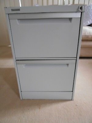 Filing Cabinet 2 Drawer with hanging files & key