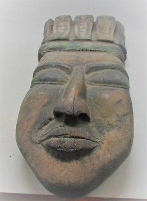 Large Antique African Wooden Tribal Face Mask Unusual
