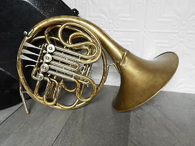 Handyman Special CG Conn 6D Double French Horn & Storage Case Repair or Parts