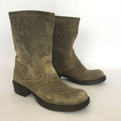 b77441e430a STEVE MADDEN BROWN Leather Western Boots Women's Size 7.5 - $30.00 ...
