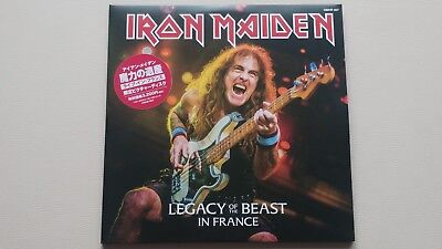 """Iron Maiden """"legacy Of The Beast In France"""" 2 Lp Picture + Poster 2018 Rare"""