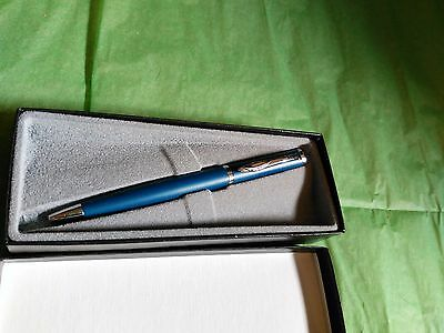 Disney Institute Pen Mickey Mouse Blue and Silver made by Quill