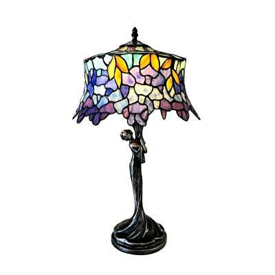 Stained Glass 1 Light Wisteria Table Lamp Chloe Lighting CH1T170PW13-TL1