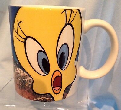 "Looney Tunes Tweetie Mug 3 3/4""  Warner Brothers 2000 XPRES  Ceramic $9.99"