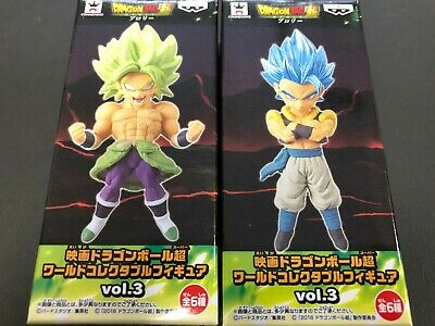 Movie Dragon Ball Super World Collectable Figure WCF Vol.3 Gogeta BROLY 2 Sets