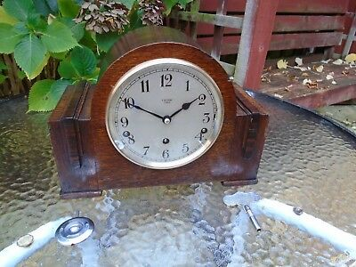 Garrard Quality Fully Restored Westminster Chimes Or Strike Oak Mantle Clock