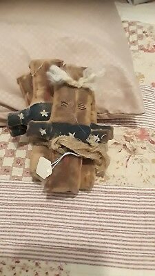 Grungy Primitive Cloth Bowl Fillers Uncle Sam