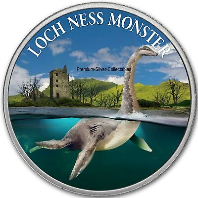 2019 Cryptozoology Series Loch Ness Monster! - Pure Silver Colorized Series!!
